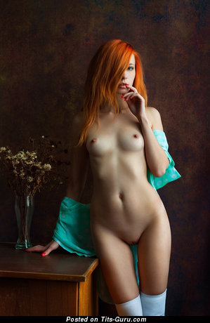 Anna Rossa - Charming Red Hair with Charming Nude Real Flat Boobys (Hd Sex Image)