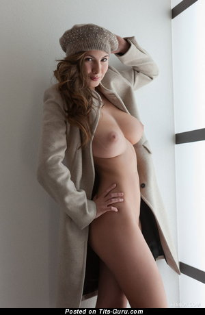 Image. Connie Carter - sexy nude brunette with medium natural tittys photo