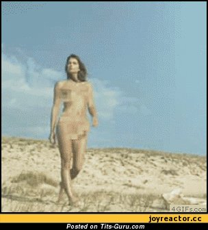 Naked wonderful female with medium boobies gif