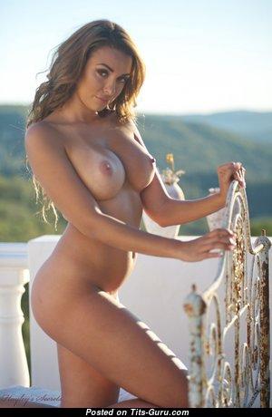 Rebecca Kelly - Dazzling English Brunette with Dazzling Bare Regular Titty (Hd Xxx Photo)