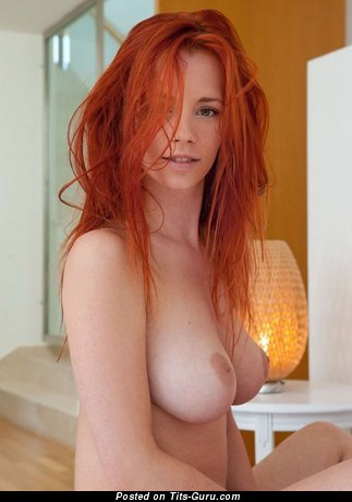 Image. Sexy nude red hair with natural tittes photo