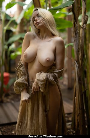 Katya (photodromm) - Adorable Blonde Babe with Adorable Naked Real Tight Chest (Hd Sexual Picture)