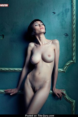 Perfect Brunette Babe with Wonderful Exposed Real Boobys (Sex Image)