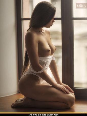 Angelina Petrova - The Best Ukrainian Brunette Babe & Girlfriend with The Best Bald Natural Tit (Hd Xxx Pix)
