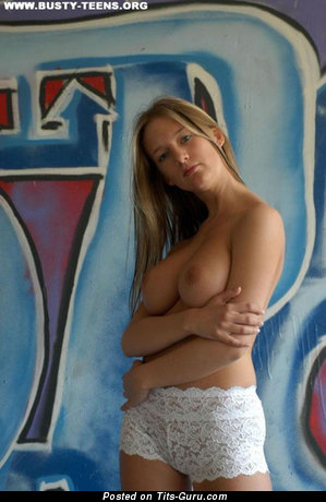 Image. Tanya - nude blonde with big natural tits photo