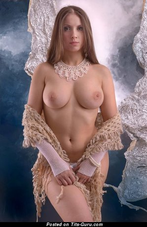 Image. Hot woman with natural breast photo