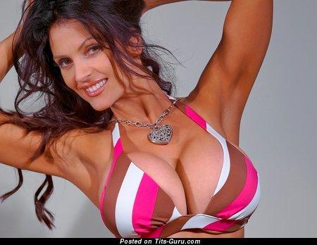 Image. Naked hot lady with huge fake tits image