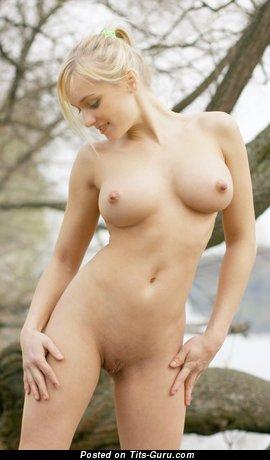 Image. Yanina - nude beautiful girl with natural tots photo