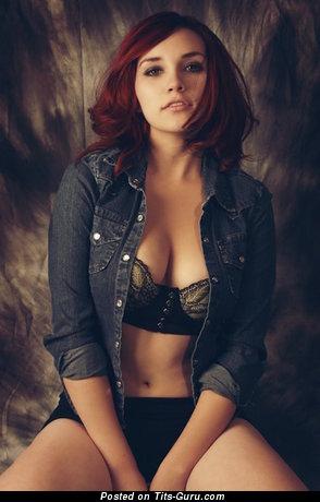 Naked wonderful girl with medium natural tittes photo
