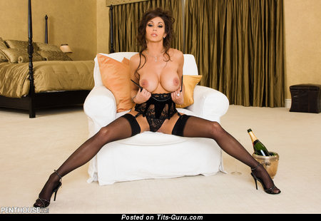 Image. Taya Parker - naked brunette with big fake breast and big nipples photo
