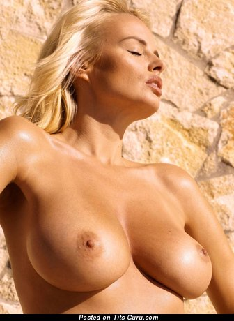 Stunning Blonde with Stunning Nude Natural Firm Melons (Hd Sexual Pic)
