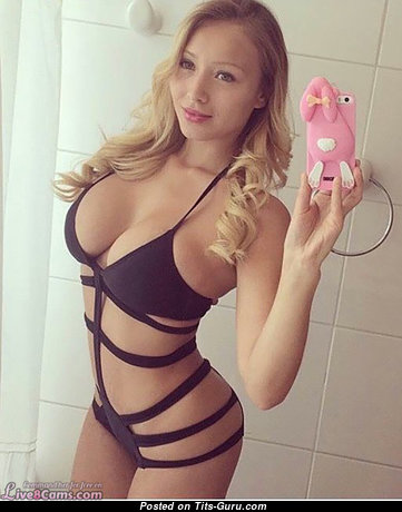 Superb Blonde Babe with Superb Bare Natural D Size Melons in Lingerie & Bikini (Private Selfie Hd Xxx Pic)