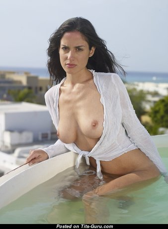 Wonderful Babe with Wonderful Defenseless Real Small-Scale Boobie in the Pool (Hd Xxx Photo)