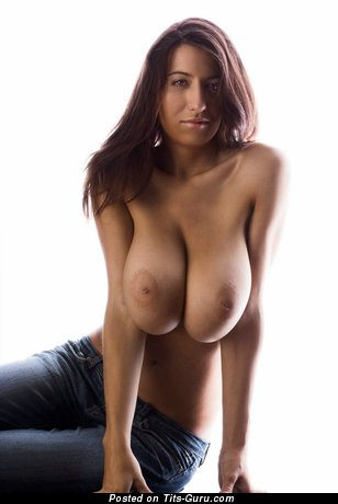 Image. Beautiful female with huge natural breast pic
