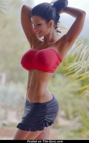 Image. Sexy naked amazing girl with big fake tittys photo