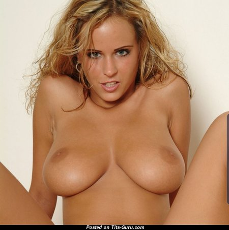Magnificent Blonde Babe with Magnificent Bare Natural Medium Sized Knockers (Hd Porn Pix)