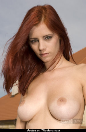 Ariel Piper Fawn - Superb Czech Red Hair Babe & Pornstar with Superb Nude Real C Size Chest & Weird Nipples (Hd Xxx Foto)