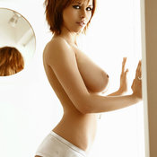 Awesome girl with big natural tittes image