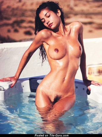 Emilie Payet - naked brunette with small tits pic