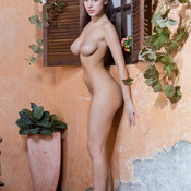 Evita Lima - brunette with natural breast image