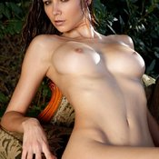 Brunette with medium natural tittys picture