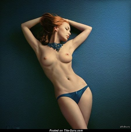 Image. Naked nice female with medium natural boobs picture