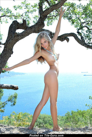 Изображение. Изображение восхитительной обнажённой блондинки с большой грудью