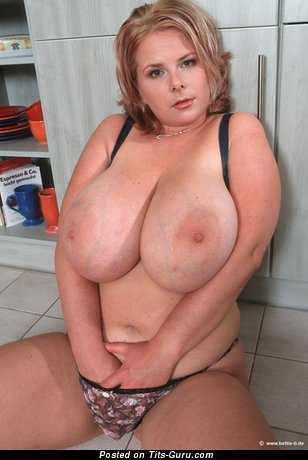 Image. Chrissie - sexy naked blonde with huge natural boob pic