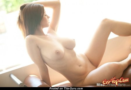 Image. Sexy wonderful female with big natural tittes pic
