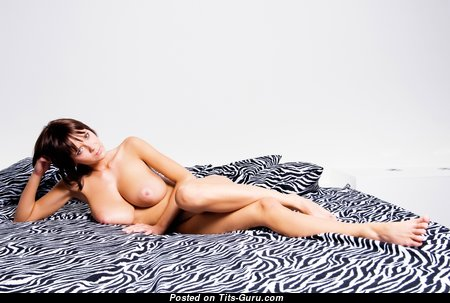 Gabriella - Hot Hungarian Brunette with Hot Exposed G Size Boobies & Sexy Legs (4k 18+ Photo)