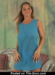 Изображение. Гиф умопомрачительной обнажённой блондинки с большими натуральными сиськами
