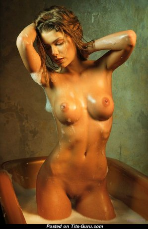 Anita Toth - Charming Wet Miss with Charming Bare Medium Sized Jugs (Porn Pic)