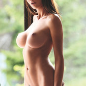 Amazing female with big fake boobs picture