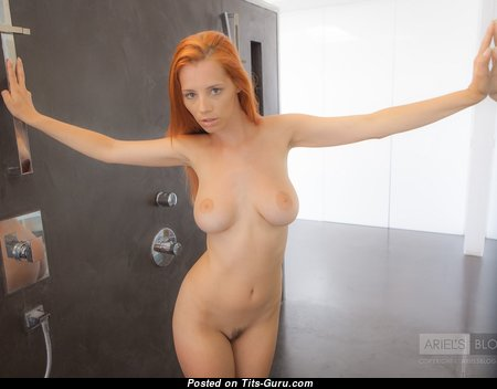 Ariel Piper Fawn - Magnificent Czech Red Hair Babe & Pornstar with Magnificent Naked Natural Average Boobie & Large Nipples (Hd Sexual Image)