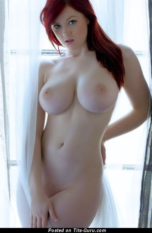 The Best Topless Red Hair Babe with The Best Defenseless Natural Soft Hooters & Weird Nipples (18+ Picture)