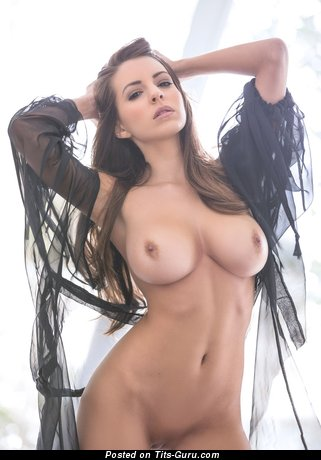 Sexy nude awesome girl with medium boob image