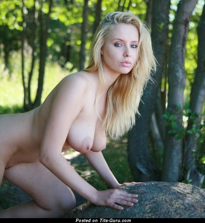 Fascinating Female with Fascinating Naked Real Mega Busts (18+ Picture)