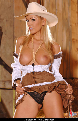 Image. Anette Dawn - naked blonde with big fake tits image