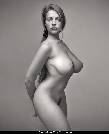 Image. Naked wonderful female with big natural tots picture
