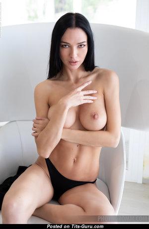 Anastasya B - Nice Topless & Glamour Brunette Pornstar with Nice Open Natural Boobie & Large Nipples (Hd Xxx Pix)