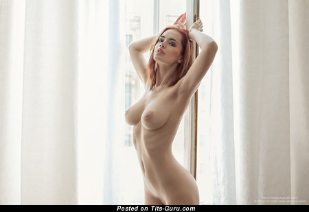 Image. Naked beautiful girl with medium natural boobs pic