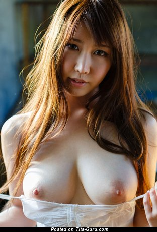 Azumi Kinoshita - Exquisite Topless Asian Floozy with Exquisite Bare Real Medium Jugs (Hd Sex Picture)