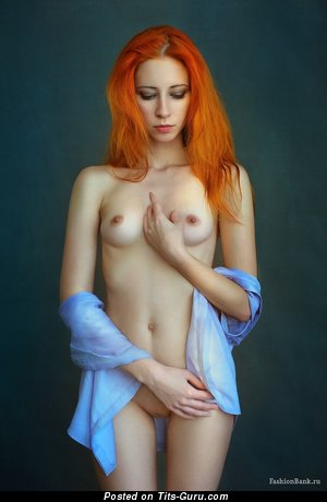 Image. Anna Rossa - nude red hair with small natural tittys picture