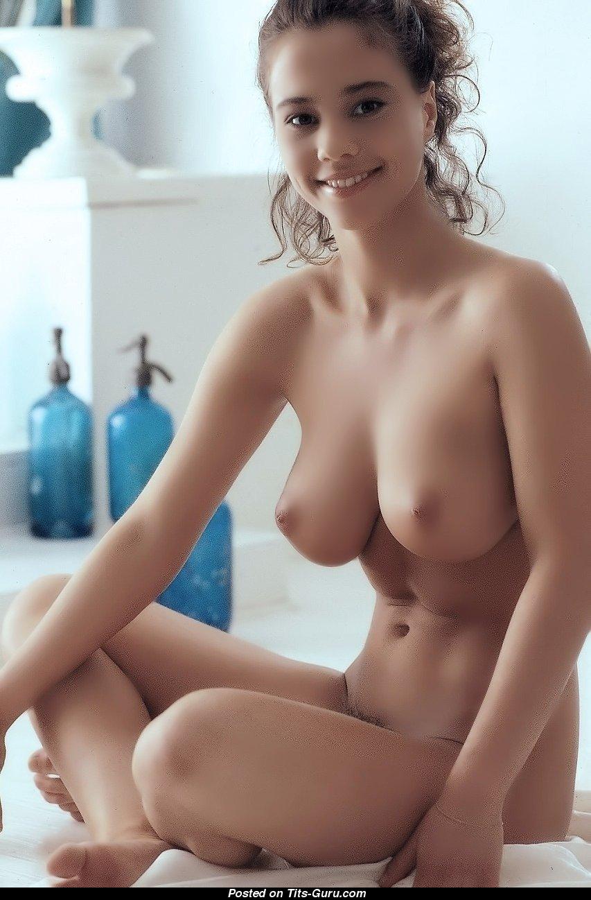 Nude brunette tits