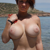 Awesome girl with big natural breast photo