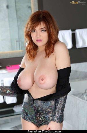 Tessa Fowler - Nice Topless American Red Hair Pornstar with Nice Exposed Real Gargantuan Tits & Giant Nipples (Hd Porn Pic)
