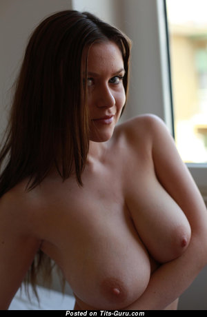 Image. Naked nice female with big natural boobs image