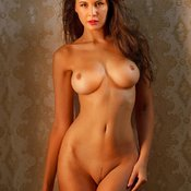 Olga Kaminska - sexy nude brunette with medium tittes photo