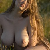 Beautiful lady with big natural breast image