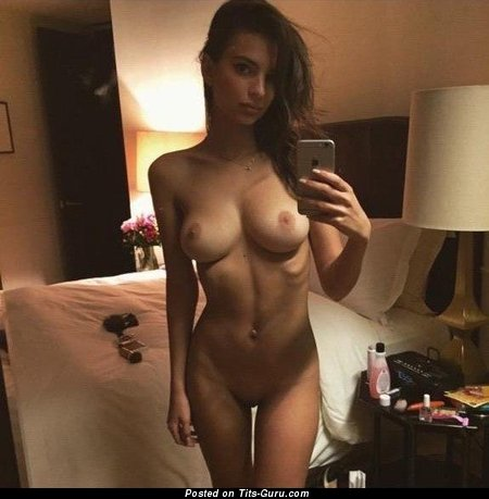 Image. Emily Ratajkowski - amazing woman with medium natural boobs photo